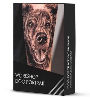 realistic dog workshop tattoo
