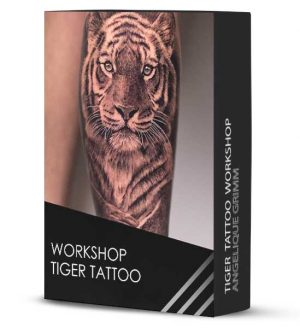 realistic tiger workshop tattoo